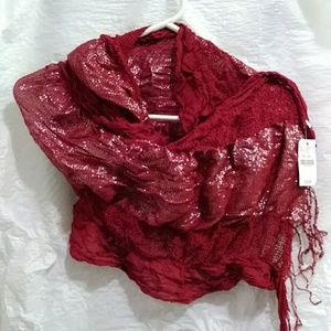 Wet seal, one size, red scarf